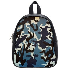 Blue Water Camouflage School Bags (Small)