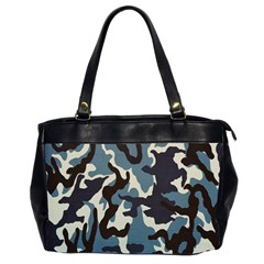 Blue Water Camouflage Office Handbags (2 Sides)