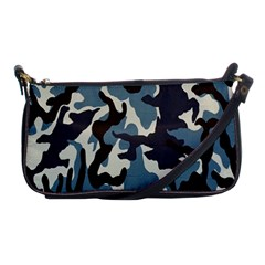 Blue Water Camouflage Shoulder Clutch Bags