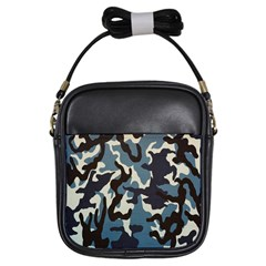 Blue Water Camouflage Girls Sling Bags
