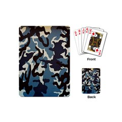 Blue Water Camouflage Playing Cards (Mini)
