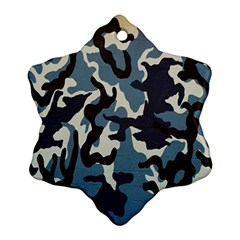Blue Water Camouflage Ornament (Snowflake)