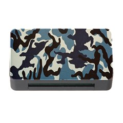 Blue Water Camouflage Memory Card Reader with CF