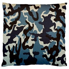 Blue Water Camouflage Large Cushion Case (One Side)