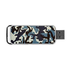 Blue Water Camouflage Portable Usb Flash (one Side)