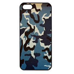 Blue Water Camouflage Apple Iphone 5 Seamless Case (black)