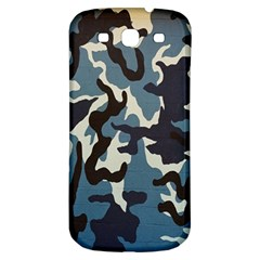 Blue Water Camouflage Samsung Galaxy S3 S III Classic Hardshell Back Case