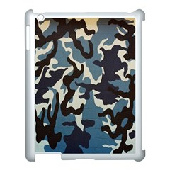 Blue Water Camouflage Apple Ipad 3/4 Case (white)