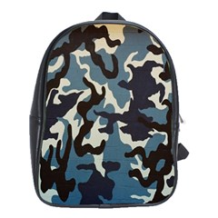 Blue Water Camouflage School Bags (XL)