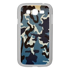 Blue Water Camouflage Samsung Galaxy Grand Duos I9082 Case (white)