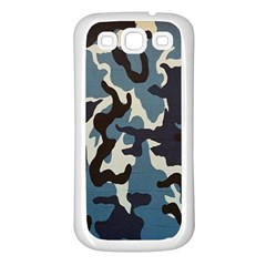 Blue Water Camouflage Samsung Galaxy S3 Back Case (White)