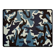 Blue Water Camouflage Double Sided Fleece Blanket (Small)