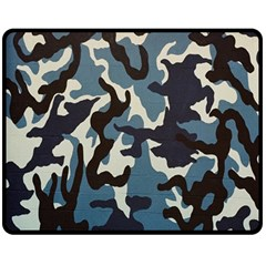 Blue Water Camouflage Double Sided Fleece Blanket (Medium)