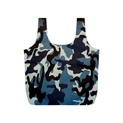 Blue Water Camouflage Full Print Recycle Bags (S)