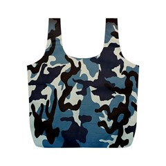 Blue Water Camouflage Full Print Recycle Bags (M)