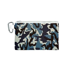 Blue Water Camouflage Canvas Cosmetic Bag (s)
