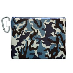 Blue Water Camouflage Canvas Cosmetic Bag (xl)