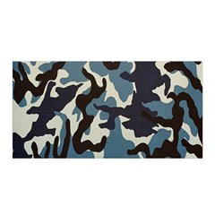 Blue Water Camouflage Satin Wrap