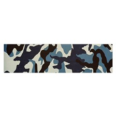 Blue Water Camouflage Satin Scarf (Oblong)