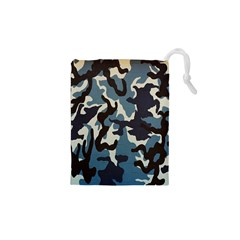 Blue Water Camouflage Drawstring Pouches (XS)