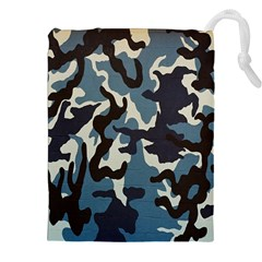 Blue Water Camouflage Drawstring Pouches (xxl)