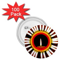 Candle Ring Flower Blossom Bloom 1.75  Buttons (100 pack)