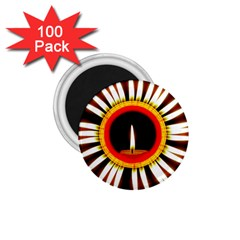 Candle Ring Flower Blossom Bloom 1.75  Magnets (100 pack)