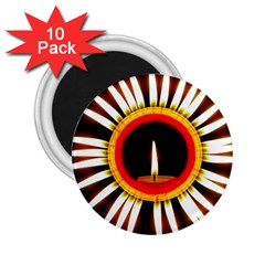 Candle Ring Flower Blossom Bloom 2.25  Magnets (10 pack)