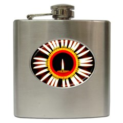 Candle Ring Flower Blossom Bloom Hip Flask (6 oz)