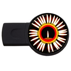Candle Ring Flower Blossom Bloom USB Flash Drive Round (1 GB)