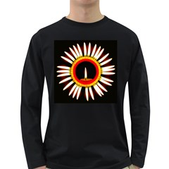 Candle Ring Flower Blossom Bloom Long Sleeve Dark T-Shirts