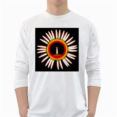 Candle Ring Flower Blossom Bloom White Long Sleeve T Shirts