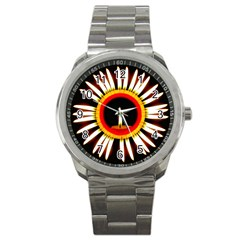 Candle Ring Flower Blossom Bloom Sport Metal Watch