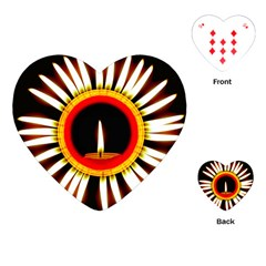 Candle Ring Flower Blossom Bloom Playing Cards (Heart)