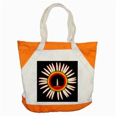 Candle Ring Flower Blossom Bloom Accent Tote Bag