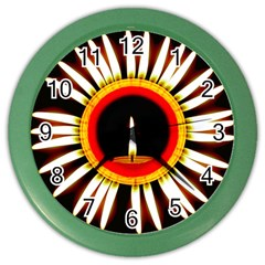 Candle Ring Flower Blossom Bloom Color Wall Clocks