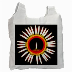 Candle Ring Flower Blossom Bloom Recycle Bag (Two Side)