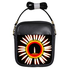 Candle Ring Flower Blossom Bloom Girls Sling Bags