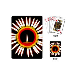 Candle Ring Flower Blossom Bloom Playing Cards (Mini)