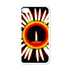 Candle Ring Flower Blossom Bloom Apple iPhone 4 Case (White)