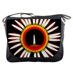Candle Ring Flower Blossom Bloom Messenger Bags