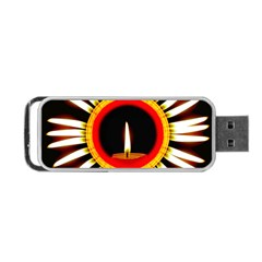 Candle Ring Flower Blossom Bloom Portable USB Flash (One Side)