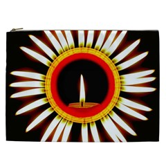 Candle Ring Flower Blossom Bloom Cosmetic Bag (XXL)