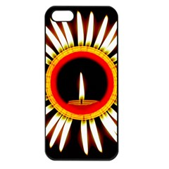 Candle Ring Flower Blossom Bloom Apple iPhone 5 Seamless Case (Black)