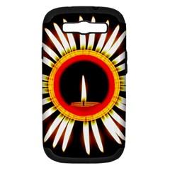 Candle Ring Flower Blossom Bloom Samsung Galaxy S III Hardshell Case (PC+Silicone)