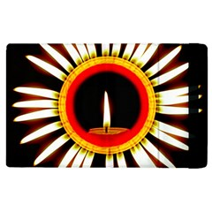 Candle Ring Flower Blossom Bloom Apple iPad 2 Flip Case