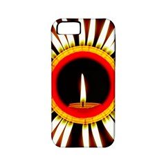 Candle Ring Flower Blossom Bloom Apple iPhone 5 Classic Hardshell Case (PC+Silicone)