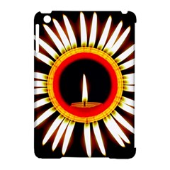 Candle Ring Flower Blossom Bloom Apple iPad Mini Hardshell Case (Compatible with Smart Cover)