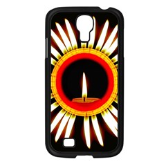 Candle Ring Flower Blossom Bloom Samsung Galaxy S4 I9500/ I9505 Case (Black)