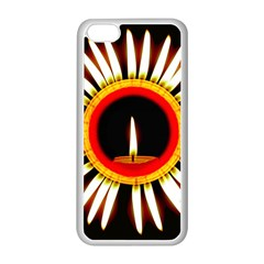 Candle Ring Flower Blossom Bloom Apple iPhone 5C Seamless Case (White)